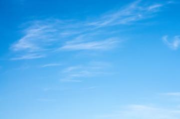 light clouds on a blue sky