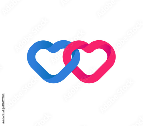 Hearts Union Unification Of Hearts Loving Red And Blue Hearts