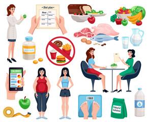 Diet Decorative Icons Set