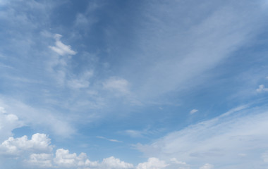 Blue Sky with white clouds for your background.