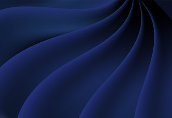Blue abstract curve and wavy vector background