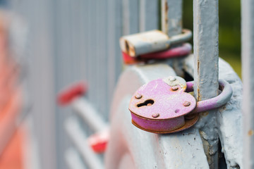 symbol of a strong marriage. padlock