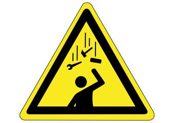 Schild Gefahr durch herabfallende Gegenstände