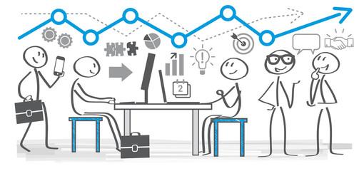 Geschäftsleute im Büro kommunizieren