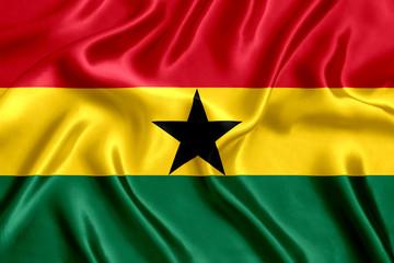 Flag Ghana silk