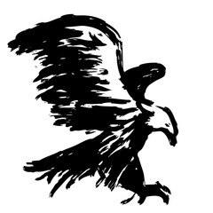 freehand sketch illustration of eagle, hawk bird