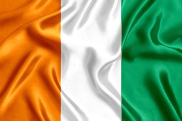 Flag of Ivory Coast silk
