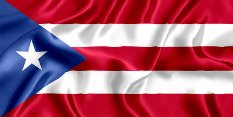 Flag of Puerto Rico Silk