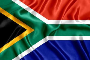 Flag of South Africa silk Wall mural