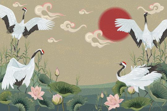 30 295 Best Japanese Crane Images Stock Photos Vectors Adobe Stock