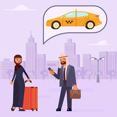 Arab family characters