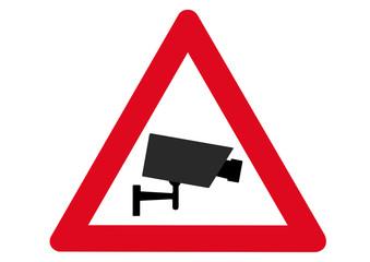 Schild Achtung Videoüberwachung