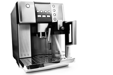 automatic coffee maker with milk jug