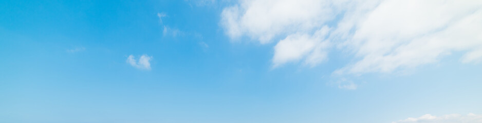 Blue sky with white clouds in springtime
