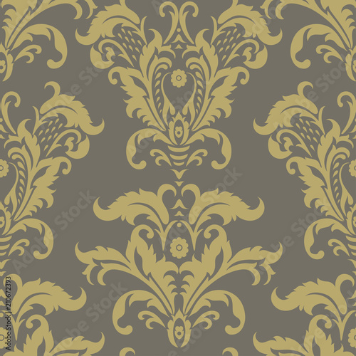 Seamless Vintage Vector Background Floral Wallpaper Baroque Style Pattern