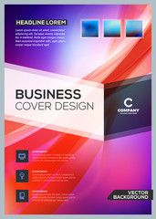 Vector business brochure cover design template. Abstract background. Vector illustration