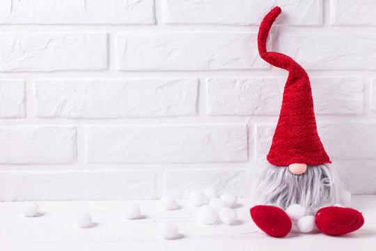 Decorative christmas elf or gnome