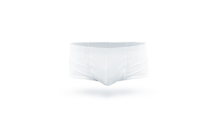 blank white underpants mock up front and back side isolated empty