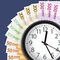 argent - le temps c'est de l'argent - concept - riche - réussite - succès - gagner de l'argent - travail