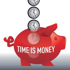 argent - le temps c'est de l'argent - time is money - concept - riche - réussite - succès - gagner de l'argent
