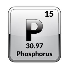 The periodic table element Phosphorus.Vector.