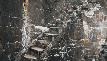 Staircase in the old fort