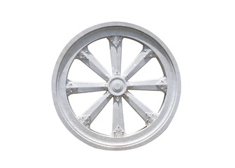 Thammachak stone wheel karma symbol of buddhism