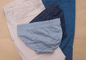 New male underwear and man shorts