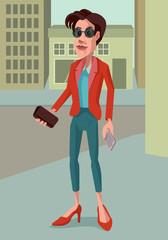 Career Woman on the go