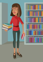 Cute Librarian