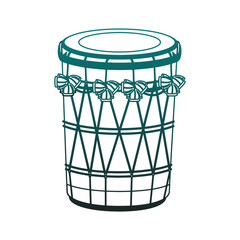 indian drum instrument vector illustration graphic design