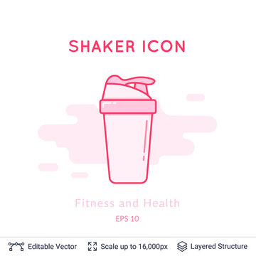 Sport shaker icon isolated on white.