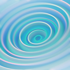 Gentle light blue twisted spiral shape abstract 3D render with DOF