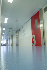 Hospital corridor to operation theaters