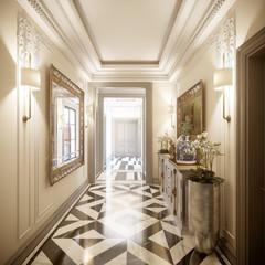 Hall design in luxury