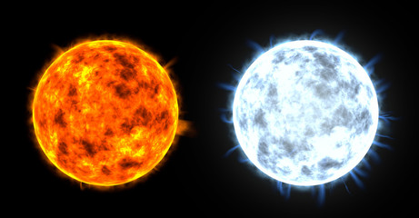 3d render of two stars