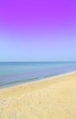 Exotic summer beach and blue ocean