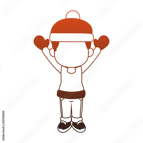 eb2c030d5ed6 Cute boy with winter clothes cartoon vector illustration graphic ...