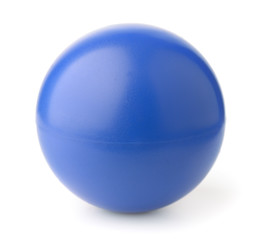 Blue foam stress ball