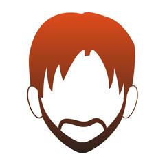 Young man faceless cartoon vector illustration graphic design