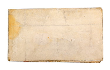Blank old dirty paper isolated on white  background