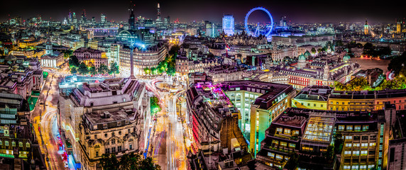 Foto op Aluminium Londen The London Skyline Panoramic