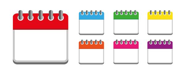 7er set wandkalender in bunten farben