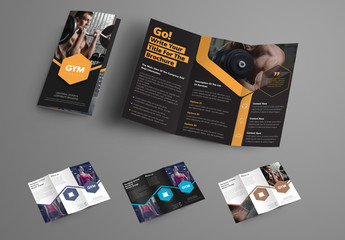 Business Brochure with Polygon Elements