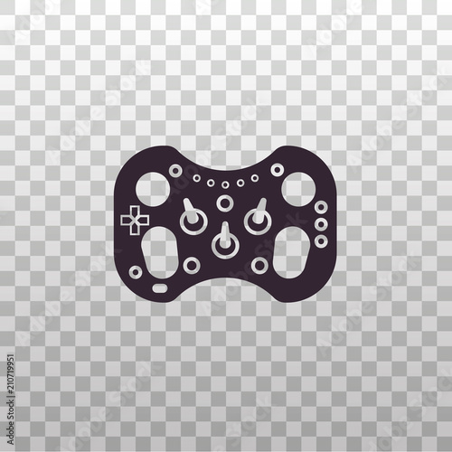 Race Wheel Black Silhouette Icon On Isolated Transparent Background