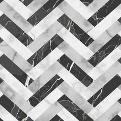 Obraz Marble Luxury Herringbone Seamless Pattern - fototapety do salonu