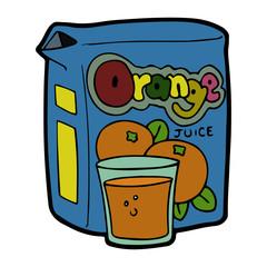Orange Juice cartoon illustration isolated on white background for children color book