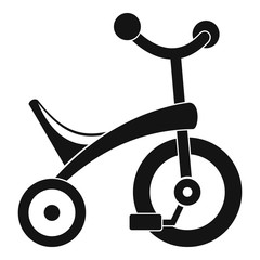 Baby tricycle icon. Simple illustration of baby tricycle vector icon for web design isolated on white background