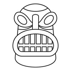 Tiki idol head icon. Outline tiki idol head vector icon for web design isolated on white background