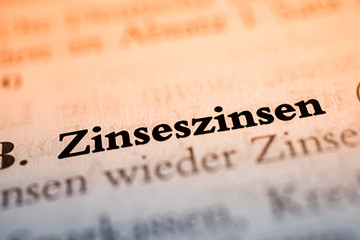 Zinseszinsen - Text